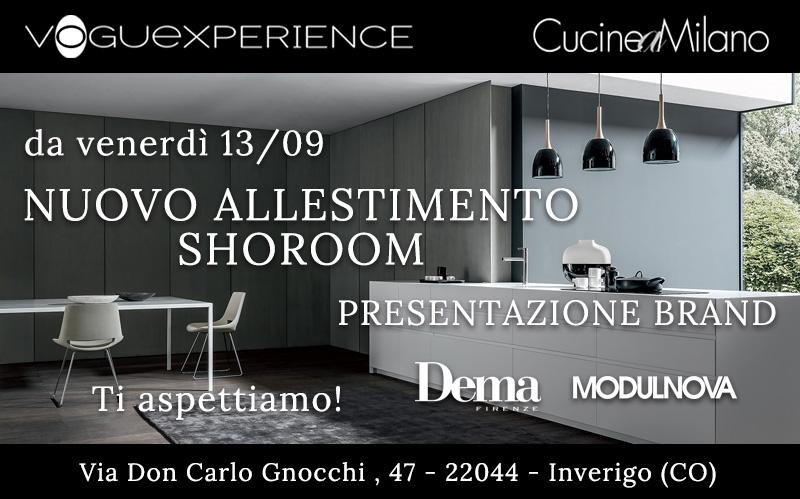 Nuovo allestimento showoroom - Presentazione brand Dema Cucine e Modulnova